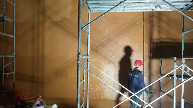 榆林电厂-HFVC防腐防水涂料施工现场