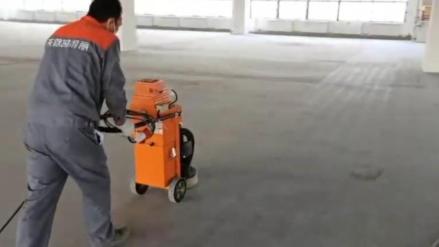 地坪漆施工现场